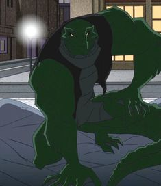 Here is a shot of Killer Croc from The Batman Killer Croc is much more of an anthro crocodile in this version, more so then any other versi. The Batman-Killer Croc The Batman 2004, Killer Croc, Dc Comics, Batman The Animated Series, Dungeons And Dragons Characters, Furry Drawing, Batman Art, Furry Art, Character Inspiration