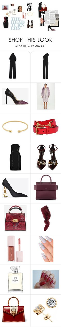 """homecoming"" by kudvmj on Polyvore featuring Diane Von Furstenberg, Jimmy Choo, Missguided, Gucci, Versace, Lanvin, Givenchy, Dolce&Gabbana, Charlotte Simone and Puma"