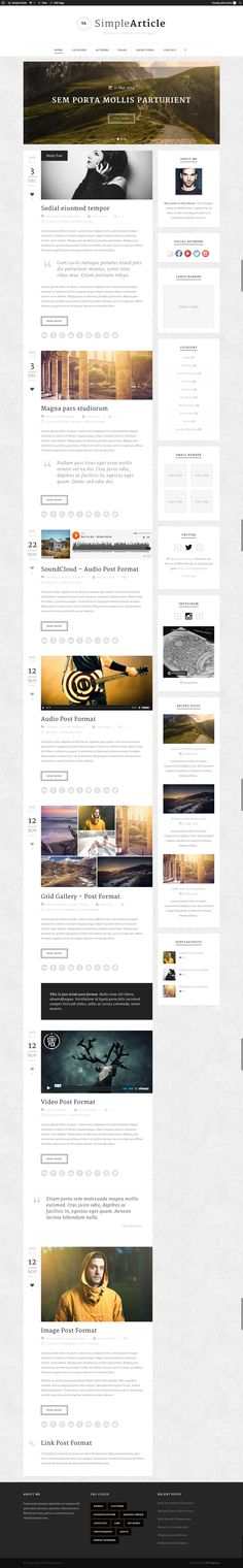 Simple Article - WordPress Theme For Personal Blog • Download ➝…