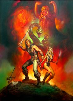 Conan / The Barbarian / The Movie / 1982 (Boris Vallejo) Boris Vallejo, Conan The Barbarian Movie, Conan Movie, Red Sonja, Fantasy Paintings, Fantasy Artwork, Arnold Schwarzenegger, Comic Books Art, Comic Art
