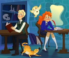 I really want the next generation of the Potters as a cartoon.... Scorpius and Rose :)