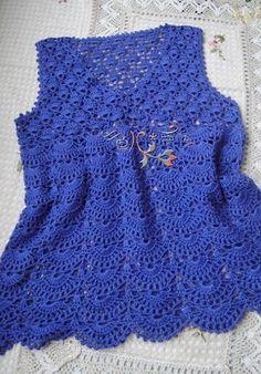 Crochet Tunic - Free Crochet Diagram - (laduska)
