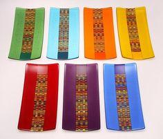 6 x 12 Tapestry Trays: Richard Parrish: Art Glass Tray - Artful Home