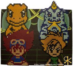 Digimon DNA Digivolve Perler Bead Art by CrK Pixels