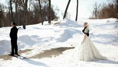 First Glance - WInter Wedding at Blackberry Ridge Golf Club, Sartell - MN.