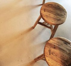A traditional style milking stool in a light-blonde reclaimed elm. This round top stool is made using beautifully weathered elm and has three legs joined with a triangular stretcher. Milking Stool, Round Stool, Light Blonde, Traditional, Legs, Top, Furniture, Style, Swag
