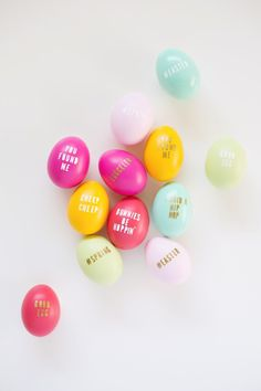 DIY Typography Easter Eggs | Lovely Indeed