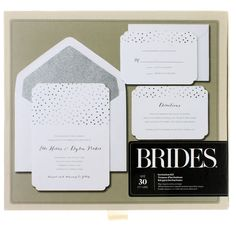 This pretty, silver foil invitation kit is perfect for a wedding, rehearsal dinner, wedding shower or other formal event. And the kit makes it easy to create your own invitations and print them at home.