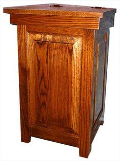 Wooden Amish trash cans/bins & Amish wooden laundry bins- handmade ...