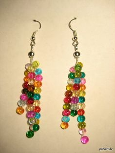 Colourful beaded earrings, I'd love to try to recreate.