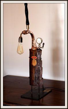 Lampe artisanale GUINNESS ancienne pompe à bière : Luminaires par creations-maxime-certine