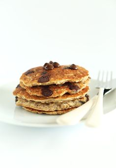Glutren Free Chocolate Chip Oatmeal Cookie Pancakes
