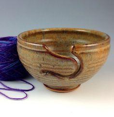 Yarn Bowl, Knitting Bowl - In Stock- Large Ceramic Knitting Yarn Bowl