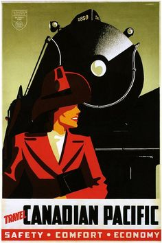 1930s Canadian Pacific Railway travel poster.