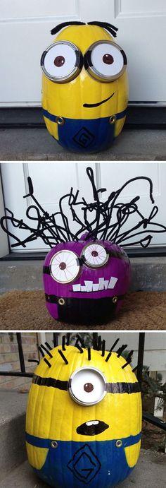 25 Cool DIY Minion Pumpkins For Halloween