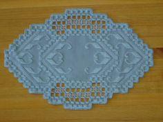 Tapete azul de Hardanger por BrokenAchers en Etsy