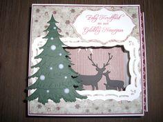 kerstkaart met mallen van Spellbinders en Memorybox.