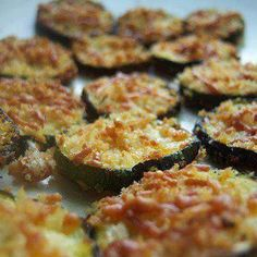 Zucchini Parmesan Crisps. On program use Melba toast crumbs in place of panko.  #weightlossrecipes #healthyrecipes