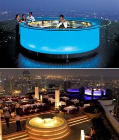 The stunning, multi-hued Sky bar at Sirocco has several reasons to turn minutes into timeless moments. Suspended in the sky on the 63rd floor of The Dome at State Tower, the Skybar is one of the world's highest open air bars, overlooking a panoramic view of Bangkok and the Chao Phraya River. With such an enthralling ambience coupled with a seductive selection of the finest vintages, beverages, cocktails and appetizers in Bangkok, the Skybar soars as one of the prized destinations in the…