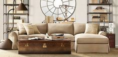 Grand-Scale Roll Arm Sectional | Restoration Hardware. Love the deep seats for snuggling