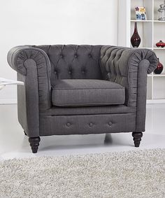 Look what I found on #zulily! Gray Arlington Club Chair by Gold Sparrow #zulilyfinds
