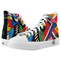 Shop Colorful Abstract High-Top Sneakers created by Personalize it with photos & text or purchase as is! Unique Presents, Unique Gifts, Watercolor Paintings For Beginners, High Top Sneakers, Sneakers Nike, Colorful Abstract Art, Cool Gifts, On Shoes, High Tops