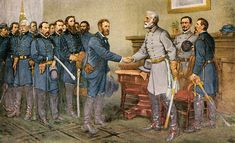 April The American Civil War ends Confederate general Robert E Lee surrendered to Union general Ulysses S Grant at Appomattox Courthouse in Virginia, thus ending the war that had raged since 1861 Civil War Heroes, Civil War Art, American Civil War, American History, American Presidents, General Robert E Lee, Ulysses S Grant, Confederate States Of America, Confederate Flag