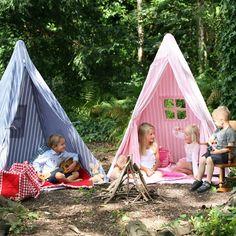 Multi-Stripe Wigwam Tent - Navy#playhouse #sale