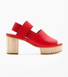 Cos Wood Heel Sandals