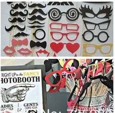 Fun party photo booth props perfect for teen birthday or wedding on Etsy, $14.95
