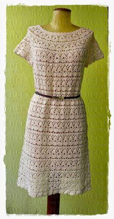 Horgolás minták: Fehér horgolt ruha