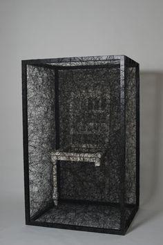 Chiharu Shiota, State of Being, Artistic Installation, Take A Seat, Decoration, Sculpture Art, Modern Contemporary, Art Gallery, Artwork, Art Installations, Box