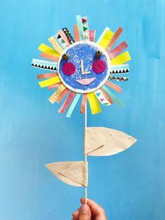 Sun Flower Puppet DIY | Sunflower Art Project | Summer Crafts | Washi Tape DIY | Duct Tape Crafts | Handmade Puppets