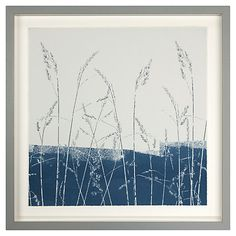 Buy Croft Collection - Grasses and Lake Blue Framed Print, 42.7 x 42.7cm Online at johnlewis.com