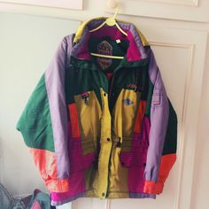 9421e4d244 Colourful vintage retro jacket - such a fab unique piece. Really well made  and warm