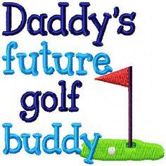 Daddy s Golf Caddy Embroidery Applique Design Baby Bib Designs