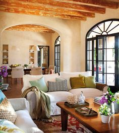Spanish style homes – Mediterranean Home Decor House Design, House, Home, Mediterranean Home, House Styles, House Interior, Coastal Decorating Living Room, Spanish House, Home Interior Design