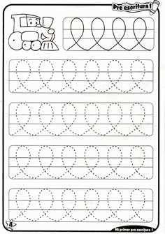 Trace the Dotted Lines Worksheets for Kids - Preschool and Kindergarten Preschool Writing, Preschool Education, Preschool Learning Activities, Free Preschool, Kindergarten Worksheets, Free Math, Handwriting Activities, Line Tracing Worksheets, Tracing Lines