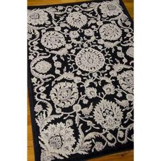 Nourison Graphic Illusions Black 7 ft. 9 in. x 10 ft. 10 in. Area Rug-221292 - The Home Depot