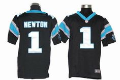 Nike Panthers #1 Cam Newton Black Team Color Youth NFL Game Jersey