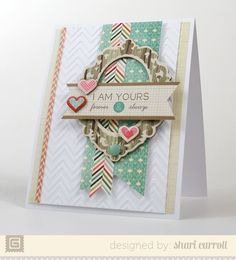 Turn on side, extend, and use as embellishment cluster on layout! (I Am Yours | Shari Carroll for the Basicgrey blog)