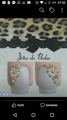 E Design, Pearl Necklace, Pearls, Manicures, Amazing, Jewelry, Nail Jewels, Art Nails, Enamels