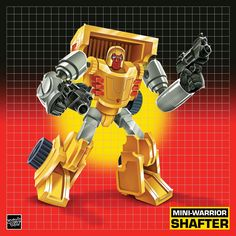 Mini-Warrior Shafter - Transformers Art by Justin Gammon – Featured in 'Transforming Collections' Book