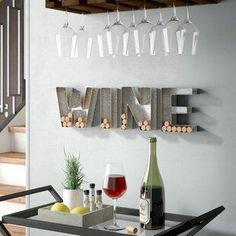 Best farmhouse wall decorations and rustic wall decor you will love. We absolutely love country themed wall decorations including farmhouse wall art, canvas art, mirrors, and more. Wine Wall Decor, Wine Wall Art, Plate Wall Decor, Wall Decor Set, Plates On Wall, Wall Letters Decor, Wall Decorations, Art Decor, Kitchen Industrial Design