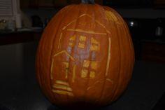 Close-up of Josh's pumpkin