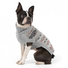 ALQO Wasi Frozen Snowflakes Small Dog Sweater Small Dog Sweaters, Small Dog Clothes, Frozen Snowflake, Small Dogs, Boston Terrier, Snowflakes, Animals, Little Dogs, Boston Terriers