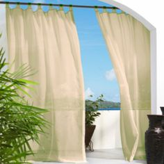 Escape Hook and Loop Tab-Top Outdoor Curtain Panel  found at @JCPenney