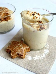 Lebkuchen Mousse mit weißer Schokolade