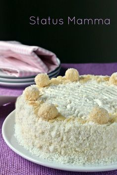 Torta gelato senza gelatiera simil Raffaello facile | Status mamma
