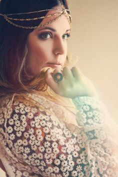 My headpiece featured on the Bohemian Collective, modeled by @Laura Mazurek.    http://thebohemiancollective.blogspot.com/